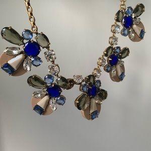 J. Crew Jewelry - Blue bauble statement necklace